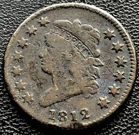 1812 LARGE CENT CLASSIC HEAD ONE CENT 1C BETTER GRADE  11620