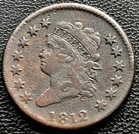 1812 LARGE CENT CLASSIC HEAD ONE CENT 1C HIGHER GRADE  11622