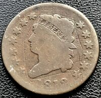 1812 LARGE CENT CLASSIC HEAD ONE CENT 1C CIRCULATED  11624