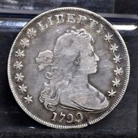 1799 BUST DOLLAR - 7 X 6 STARS WITH BERRIES - VG DETAILS 18131