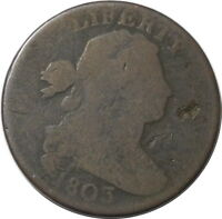 1803 DRAPED BUST S247 LARGE CENT 1C KEY DATE $ SMALL DATE SMALL FRACTION