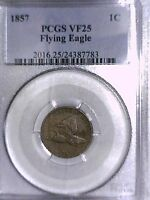 1857 FLYING EAGLE CENT PCGS VF 25 24387783