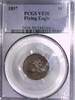 1857 FLYING EAGLE CENT PCGS VF 30 24824801
