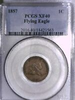 1857 FLYING EAGLE CENT PCGS EXTRA FINE  40 18421563