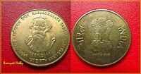 INDIA 5 RUPEES 2011 RABINDRANATH TAGORE EX  MULE COIN WITHOUT DENOMINATION