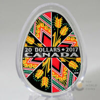CANADA 2017 20$ TRADITIONAL UKRAINIAN PYSANKA EASTER EGG 1OZ