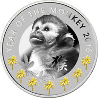 NIUE 2016 1$ YEAR OF THE MONKEY LUNAR CALENDAR PROOF SILVER