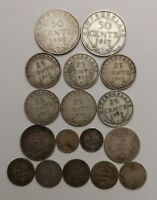 CANADA COINS LOT     N F L  AND  N B     STERLING SILVER