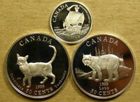 CANADA SILVER PROOF 1997 10 CENTS AND 1999 50 CENTS  2