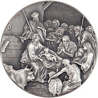 NIUE 2016 2$ BIBLICAL COIN THE BIRTH OF JESUS 2 OZ BU SILVER