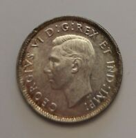 KING  GEORGES VI    25 CENTS 1943    HIGH GRADE