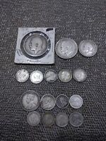SILVER CANADIAN AND BRITISH COIN LOT MOSTLY STERLING SOME 18