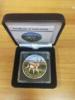 PRONGHORN COIN 5 DOLLARS 1 OZ 999 SILVER COLOURED CANADA 201