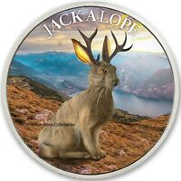 2019 CRYPTOZOOLOGY SERIES JACKALOPE    PURE SILVER COLORIZED
