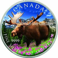 2012 CANADA WILDLIFE SERIES MOOSE   1 OUNCE PURE SILVER COIN