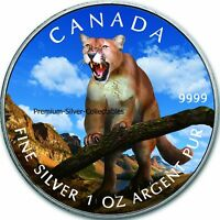 2012 CANADA WILDLIFE SERIES COUGAR   1 OUNCE PURE SILVER COI