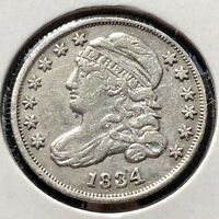 1834 CAPPED BUST DIME 10C HIGHER GRADE   11753