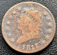 1811 LARGE CENT CLASSIC HEAD ONE CENT 1C  GRADE   KEY DATE 11617