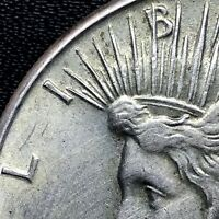 : 1934-P  SILVER PEACE DOLLAR  VAM DDO DOUBLE MOTTO  ERROR COIN .