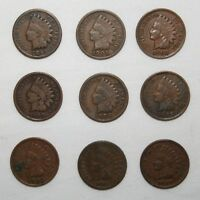 9 INDIAN HEAD CENTS 1881 1891 1901 1902 1903 1905 1906 21907