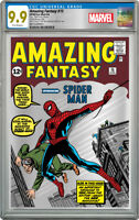 MARVEL COMICS: AMAZING FANTASY 15   SILVER FOIL   CGC 9.9 MINT FIRST RELEASE