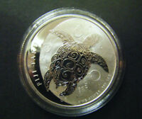 2011 $2 1OZ NEW ZEALAND FIJI TAKU SILVER BULLION COIN HAWKSB