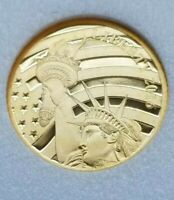 2011 COOK ISLANDS $5 GOLD COIN US LIBERTY 1/10 OZ .24