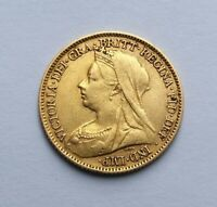 1900 VICTORIA GOLD HALF SOVEREIGN