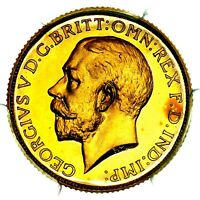 1911 KING GEORGE V GOLD PROOF SOVEREIGN COIN PCGS PR65 CAM