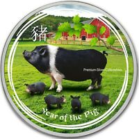 2019 AUSTRALIA SILVER LUNAR YEAR OF THE PIG   1 OUNCE PURE S
