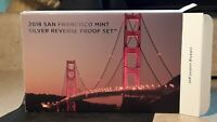 2018 SAN FRANCISCO SILVER REVERSE PROOF SET W/ ORIGINAL BOX