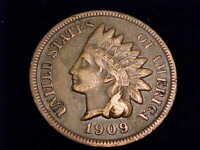 1909 S INDIAN HEAD CENT VERY FINE GRADE.  LIBERTY IS SHARP A