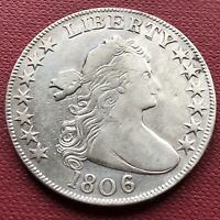1806 DRAPED BUST HALF DOLLAR 50C HIGH GRADE EXTRA FINE  DETAILS  EARLY COIN 14336