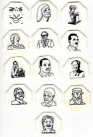 13 FAMOUS PEOPLE PLASTIC TOKENS   FROM ADOLF HITLER TO HILLARY CLINTON   GAME?