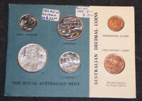 1966 AUSTRALIA MINT COIN SET   6 COINS   CARDBOARD PACKAGING