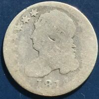 1814 CAPPED BUST DIME 10C CIRCULATED   9633