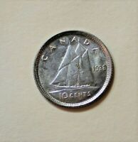1938 CANADA 10 CENT  UNCIRCULATED BETTER DATE