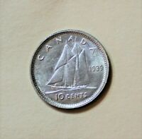 1939 CANADA 10 CENT  UNCIRCULATED BETTER DATE