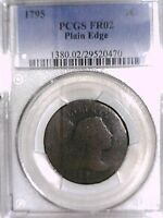 1795 LARGE CENT PCGS FR 02 PLAIN EDGE 29520470