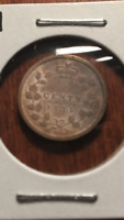 1871H CANADA SILVER FIVE CENTS