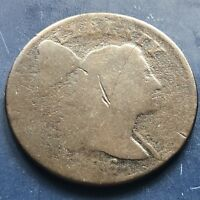 1796 LARGE CENT LIBERTY CAP FLOWING HAIR ONE CENT CIRCULATED  9909