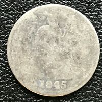 1845 SEATED LIBERTY DIME 10C  DATE CIRCULATED 13352