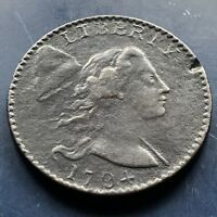 1794 LARGE CENT LIBERTY CAP FLOWING HAIR ONE CENT BETTER GRADE  9906