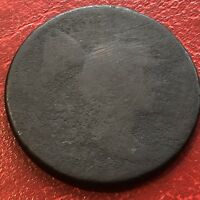 1795 LARGE CENT LIBERTY CAP FLOWING HAIR ONE CENT CIRCULATED CULL 13605