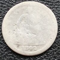 1844 SEATED LIBERTY HALF DIME 5C CIRCULATED  11460