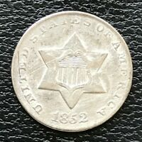 1852 THREE CENT PIECE SILVER TRIME 3C UNCIRCULATED 13817