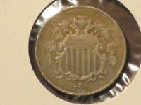 1868 SHIELD NICKEL - EXCELLENT SPECIMEN.  DETAILS