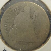 1876 SEATED LIBERTY 10C GRADED IN ALMOST GOOD C110