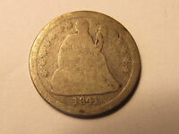 1841 SEATED LIBERTY DIME IN G GOOD CONDITION