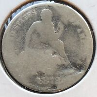 1872 SEATED LIBERTY DIME 10C CIRCULATED  DATE PHILADELPHIA 12255